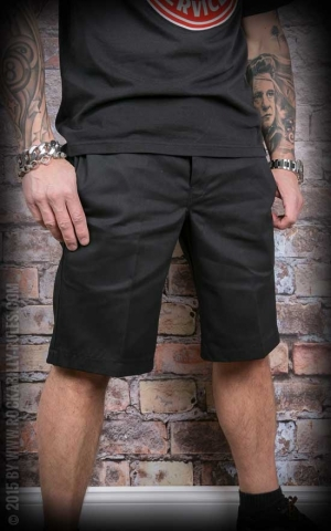 Dickies 11In Slim Straight Work Short, black