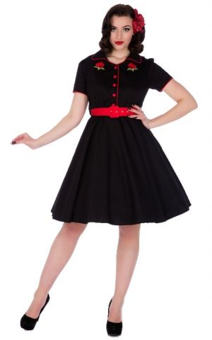 Dolly and Dotty - Sherry Rockabilly Diner Dress