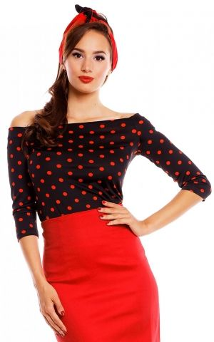Dolly and Dotty Longsleeve Gloria Bardot Polkadot