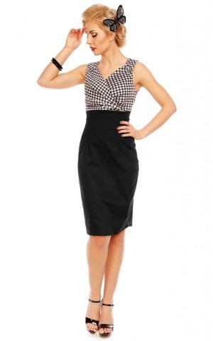 Dolly and Dotty - Pencil Skirt Kleid Cheryl, Gingham Vichy