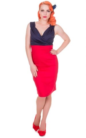 Dolly and Dotty - Pencil Skirt Kleid Glam Vintage
