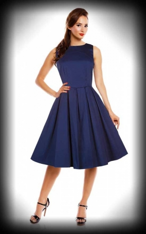 Dolly and Dotty - Retro Swing Dress Lola, navy blue