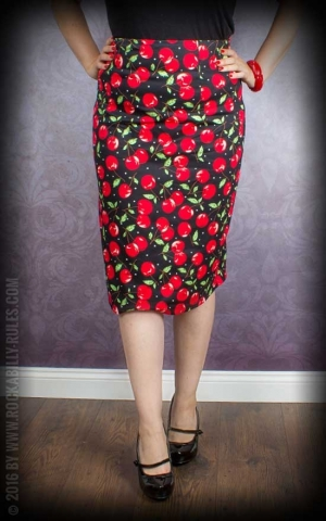 Dolly and Dotty - Pencil Skirt Falda, Cherry Print
