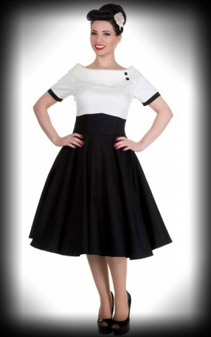 Dolly and Dotty - Swing Dress Darlene, black and white