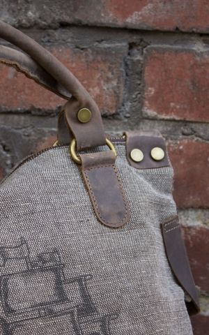 Donkey Swing Canvas Handbag Steering Wheel