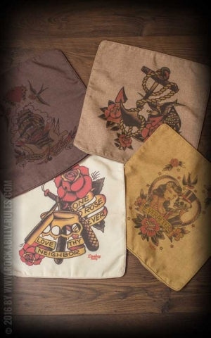Donkey Swing - Pillow Cases Oldschool Tattoos, diverse