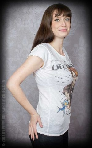 Donkey Swing - T-Shirt Femme Pin Up Garage