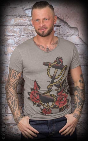 Donkey Swing - T-Shirt Vintage Anchor Roses