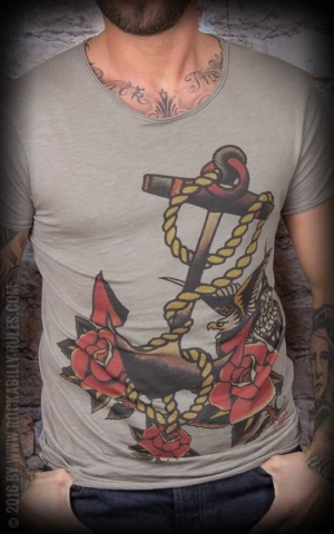 Donkey Swing - Vintage T-Shirt Anchor Roses