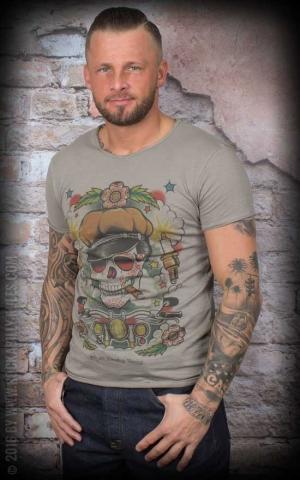 Donkey Swing - T-Shirt Vintage Teschio Candele