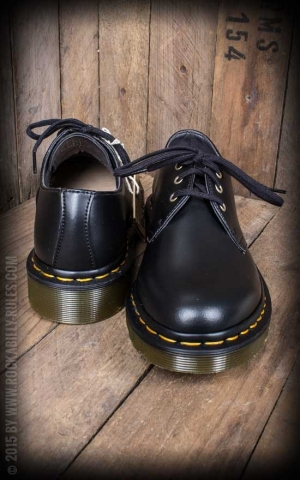 Dr Martens-Shoe-3 Eye-Vegan Black