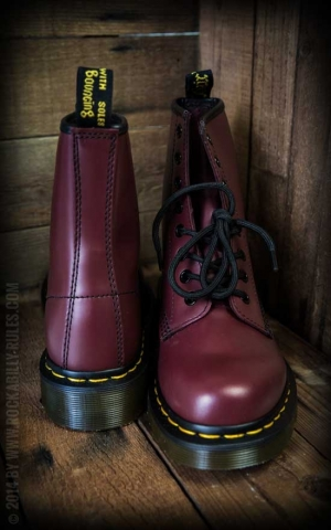 Dr Martens-Boots-8 Eye-Cherry Red