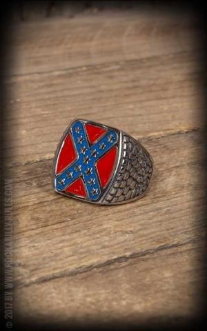 Stainless Steel Ring - Rebel Flag