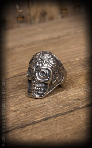 Stainless Steel Ring - Sugar Skull