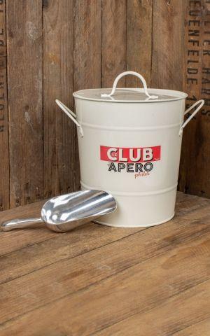 Ice bucket with scoop Le club des Apérophiles