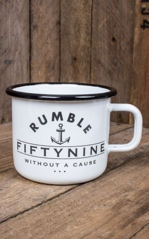 Rumble59 Enamel Mug - Black as your Soul