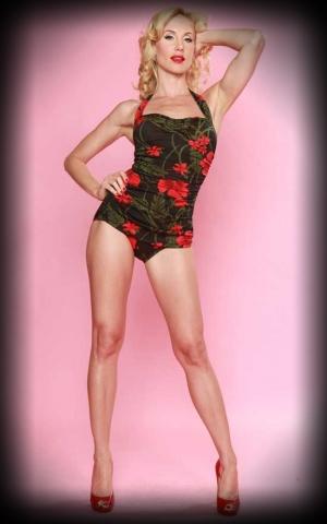 Esther Williams Badeanzug Rouge Hibiskus