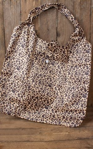 Foldable shopping bag Leopard