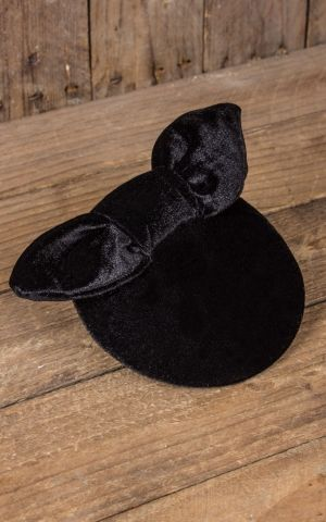 Mirandas Choice Fascinator only a bow - black velvet