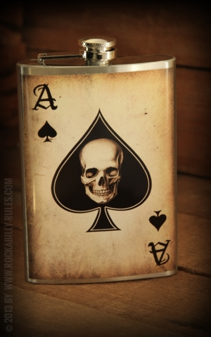 Flachmann Ace of Spades
