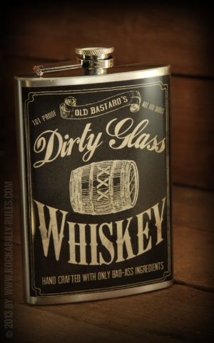 Flachmann Dirty Glass Whiskey