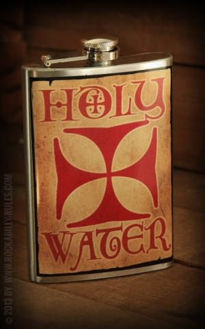 Flachmann Holy Water Iron Cross