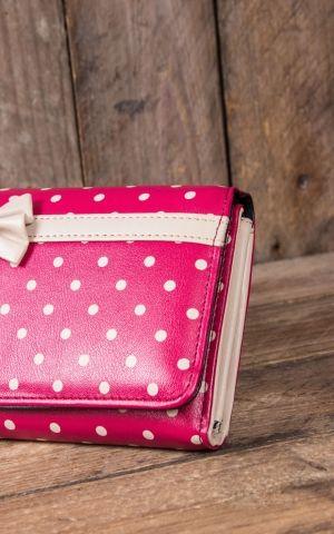 Banned Wallet Vintage Polkadot Carla, red