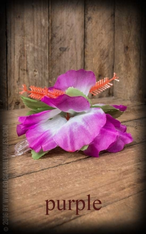 Haarspange | Haarclip - Aloha Hawaii Hibiskus Blüte, diverse