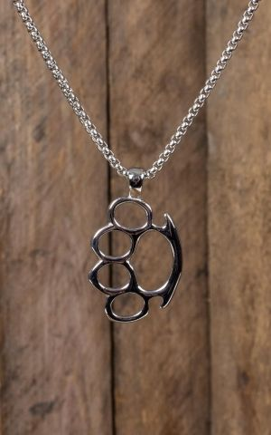 Necklace with pendant - Knuckleduster