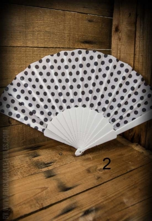 Fan with Polkadot pattern