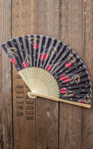 Sourpuss Clothing Fan - Love Cherries