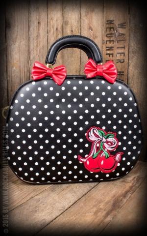 Handtasche - Lucille Polkadot, schwarz