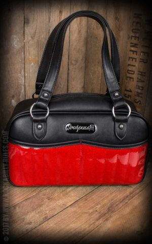 Sourpuss Clothing Handtasche - Sabrina Glitter rot