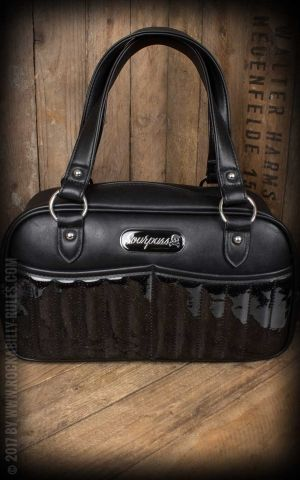 Sourpuss Clothing Baby Purse - Sabrina Glitter black