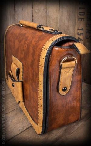Handbag - Vintage with bow, brown