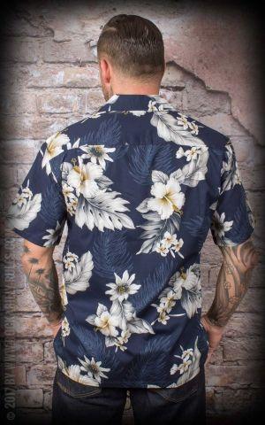Hawaiihemd - Aloha Hibiskus, navy