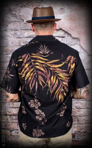 Hawaii Hemd - Black leaf