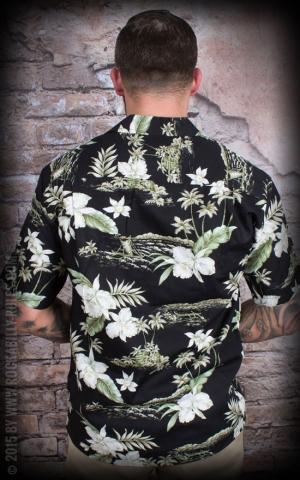 Hawaii Hemd - Black Orchid