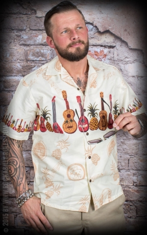 Hawaii Shirt Cream Ukulele