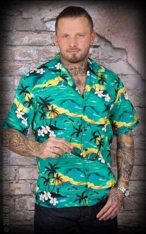 Hawaiian Shirt - Hawaiian Green