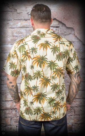 Hawaiihemd  - Hawaiian Palm Trees, gelb