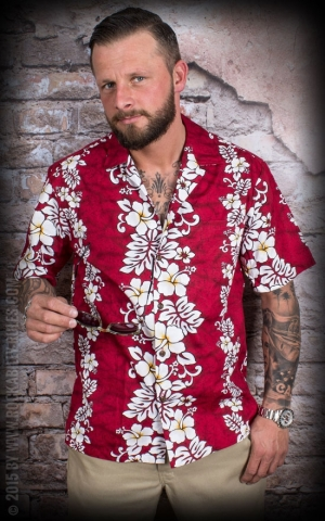 Hawaiin Shirt Hula Red