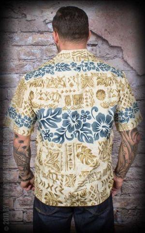 Hawaiian Shirt - Khaki Tapa