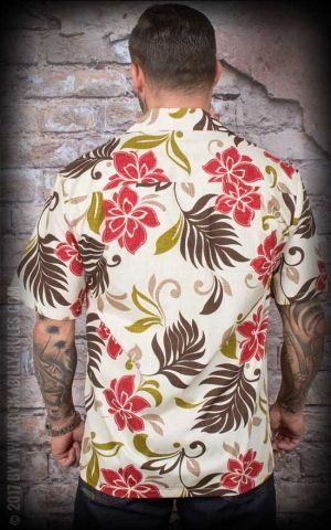 Chemise Hawaïenne - Red Flower