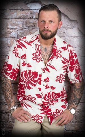 Hawaii Shirt Red Orchid