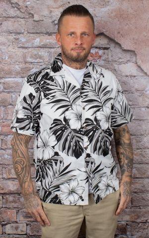 Chemise Hawaïenne - Hibiscus blanc