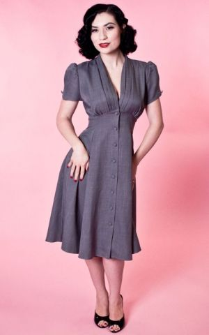 Heart of Haute - Manhattan Dress Skyscraper Grey
