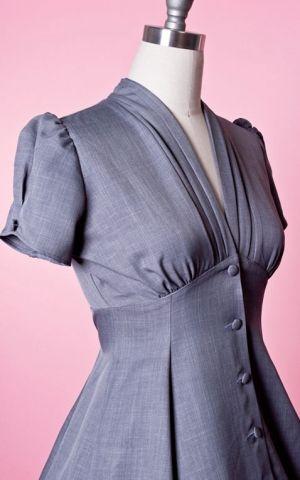 Heart of Haute - Manhattan Dress Skyscraper Grey