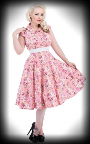 Hearts and Roses 50s Floral Swing Dress - Charlotte Rose