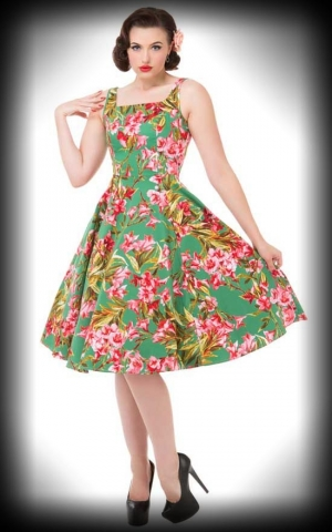 Hearts and Roses 50s Blumen Swingkleid - Pink Maureen